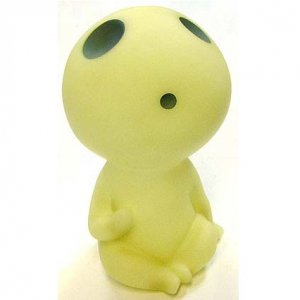 Money Box - Fluorescence - glows in the dark - holds coin - Kodama - Mononoke - Ghibli - 2011 (new)