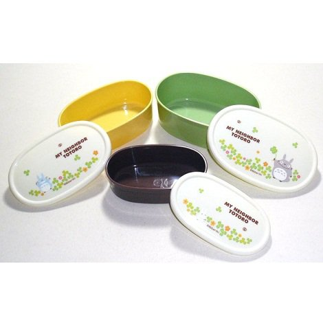 3 size lunch bento box tupperware clover made in. Black Bedroom Furniture Sets. Home Design Ideas