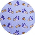 1 left - Necktie - Silk - Print - sax - acorn - made in Japan - Totoro - Ghibli - 2011 (new)