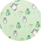 1 left - Necktie - Silk - Print - green - jump - made in Japan - Totoro - Ghibli - 2011 (new)
