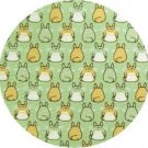 1 left - Necktie - Silk - Print - green- back & front - made in Japan - Totoro - Ghibli - 2011 (new)