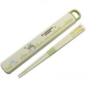 Chopsticks 18cm in Case - dishwasher - clover - made in Japan - Totoro - Ghibli - 2011 (new)