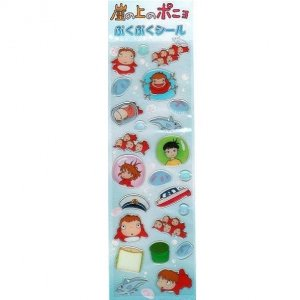 3 left - Puffy Sticker Sheet - Ponyo & Sousuke & Ponponsen - Ghibli - no production (new)