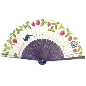 Mini Folding Fan - Jiji - Kiki's Delivery Service - Ghibli - 2012 (new)