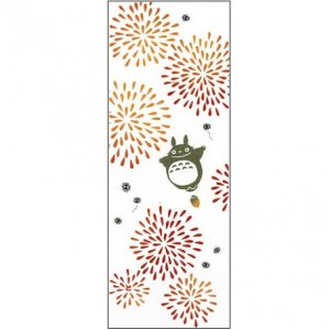 Hand Towel / Tenugui - fireworks - Japanese Dyeing - made in Japan - Totoro - Ghibli - 2012 (new)