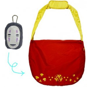 Eco Shoulder Bag - Carabiner Hook Pouch - Zipper - Kaonashi - Spirited Away - Ghibli - 2012 (new)