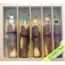 1 left - 5 Stamp Set - Totoro & Chu & Sho & Kurosuke & Frog - Ghibli - no production (new)