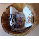 1 left - Wooden Oke & Handkerchief & Strap Set - Spirited Away - Ghibli - no production (new)