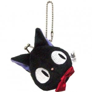 Coin Gamaguchi Purse - Plush Doll - Chain Strap - Jiji - Kiki's Delivery Service - 2012 (new)