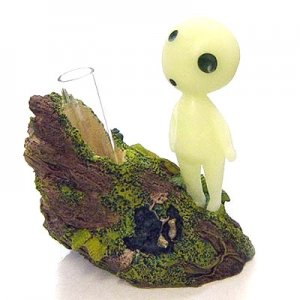 Small Vase - Figure - Fluorescence - glow in dark - Kodama - Mononoke - Ghibli - 2012 (new)