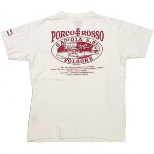 T-shirt - L Size - White - made in japan - Porco Rosso - Ghibli - 2012 (new)