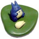 3 left - Floating Figure - Porcelain - Totoro & Sho Totoro on Leaf - out of production (new)