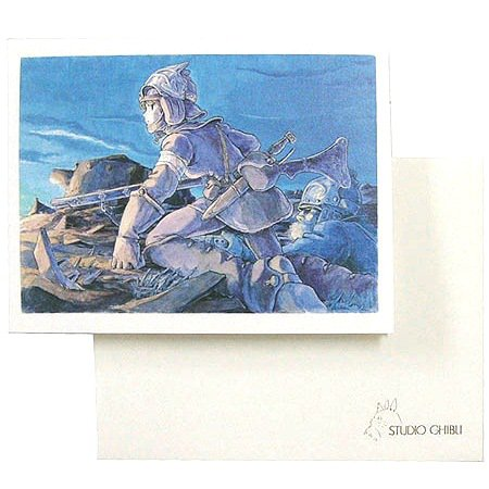 Greeting Card & Envelope - Hayao Miyazaki's Water Painting - Nausicaa - Ghibli - 2012 (new)