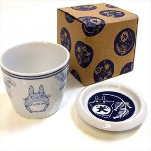 Cup &amp; Lid / Plate - Ceramics - microwave &amp; oven - pine - Totoro - Ghibli - 2012 (new)