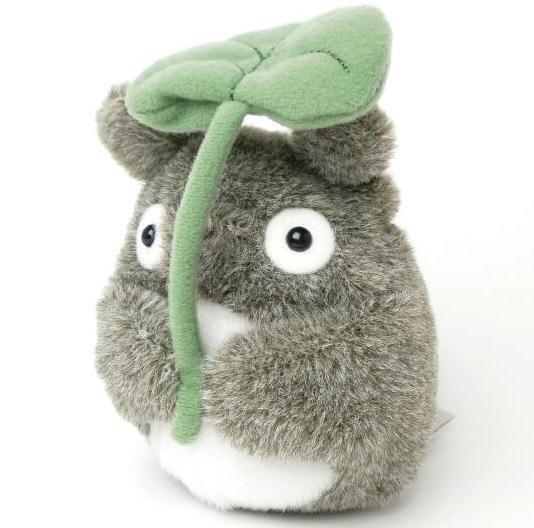 Beanbags / Otedama - H13cm - Fluffy - Totoro holding Leaf ...