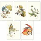 4 left- 5 Postcard Set - Hayao Miyazaki's Drawing- Totoro Fund - made in Japan - no production (new)