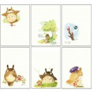 3 left- 6 Postcard Set - Hayao Miyazaki's Drawing- Totoro Fund - made in Japan - no production (new)