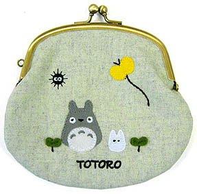 1 left - Gamaguchi Purse - Apprique - Sun Arrow - Totoro - Ghibli - 2012 - no production (new)