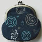 1 left - Purse / Japanese Gamaguchi -swirl- Totoro & Sho & Kurosuke - Ghibli - no production (new)