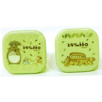 5 left 2 mini bento lunch box tupperware green made in japan totoro no production new. Black Bedroom Furniture Sets. Home Design Ideas