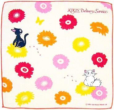 Handkerchief - Gauze - Gerbera - made in Japan - Kiki's Delivery Service -2013- no production (new)