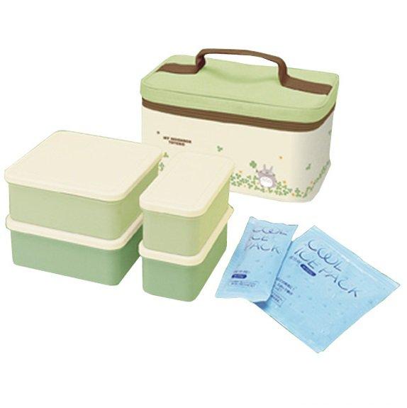 lunch bento box set cooler bag 4 lunch box 2 refrigerant made. Black Bedroom Furniture Sets. Home Design Ideas