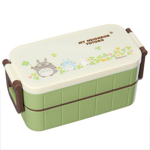 2 tier lunch bento box chopsticks made in japan totoro 2013 no production new. Black Bedroom Furniture Sets. Home Design Ideas