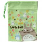 Mini Kinchaku Bag - flower - made in Japan - Totoro - Ghibli - 2013 (new)