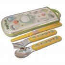 Fork & Spoon & Chopsticks in Case Set - dishwasher - made in Japan - Totoro - Ghibli - 2013 (new)