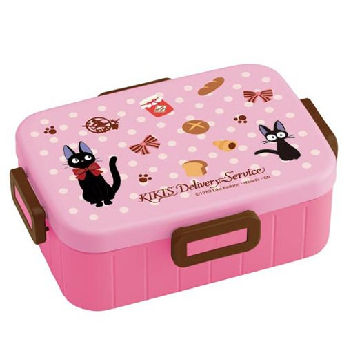 Bento Lunch Box -900ml-4 Lock- microwave dishwasher -made Japan- Kiki's Delivery Service -2013 (new)