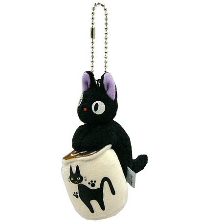 Strap - Cup - Mascot - Jiji - Kiki's Delivery Service - Ghibli Collection - Sun Arrow - 2013 (new)