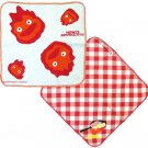 2 Kitchen Cloth Set - 35x35cm - made in Japan - Calcifer - Howl's Moving Castle - 2013 (new)