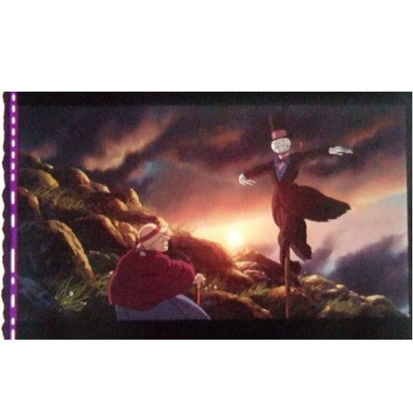 SOLD - Bookmarker - Movie Film #8 - 6 Frame - Kabu & Sophie - Howl's Moving - Ghibli Museum (new)