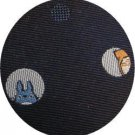 Necktie - Silk - Jacquard Weaving - spot light - navy - made in Japan- Totoro - Ghibli - 2013 (new)