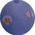 Necktie - Silk - Jacquard Weaving - spot light - sax blue - made in Japan- Totoro - 2013 (new)