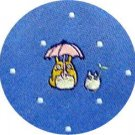 Necktie - Silk - Jacquard Weaving - blue - made in Japan- Totoro - Ghibli -2013- no production (new)