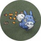 Necktie - Silk - Jacquard Weaving - acorn - green - made in Japan- Totoro - Ghibli - 2013 (new)