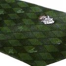 Necktie - Silk - Jacquard Weaving - argyle - green - made in Japan- Totoro - Ghibli - 2013 (new)