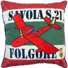 Cushion - 45x45cm - Savoia S.21 Folgore - Porco - Ghibli - 2013 (new)