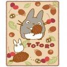 Blanket (M) - 100x140cm - Microfiber - Polyester Coral Meyer - acorn - Totoro - Ghibli - 2013 (new)