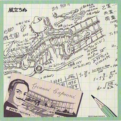 Bandana - 53x53cm - made in Japan - Wind Rises / Kaze Tachinu - Ghibli - 2013 (new)