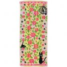 Face Towel -34x80cm- Jacquard Weaving -rose- Jiji - Kiki's Delivery Service -made Japan -2013 (new)