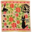 Hand Towel -34x36cm- Jacquard -rose- Jiji - Kiki's Delivery Service - made Japan - 2013 (new)