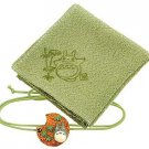 2 left- Wrapping Cloth / Furoshiki -45x45cm- Ornament-green-made Japan - Totoro -no production (new)