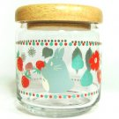 5 left - Glass Container - Natural Wood - strawberry & flower - Totoro - 2011 - no production (new)