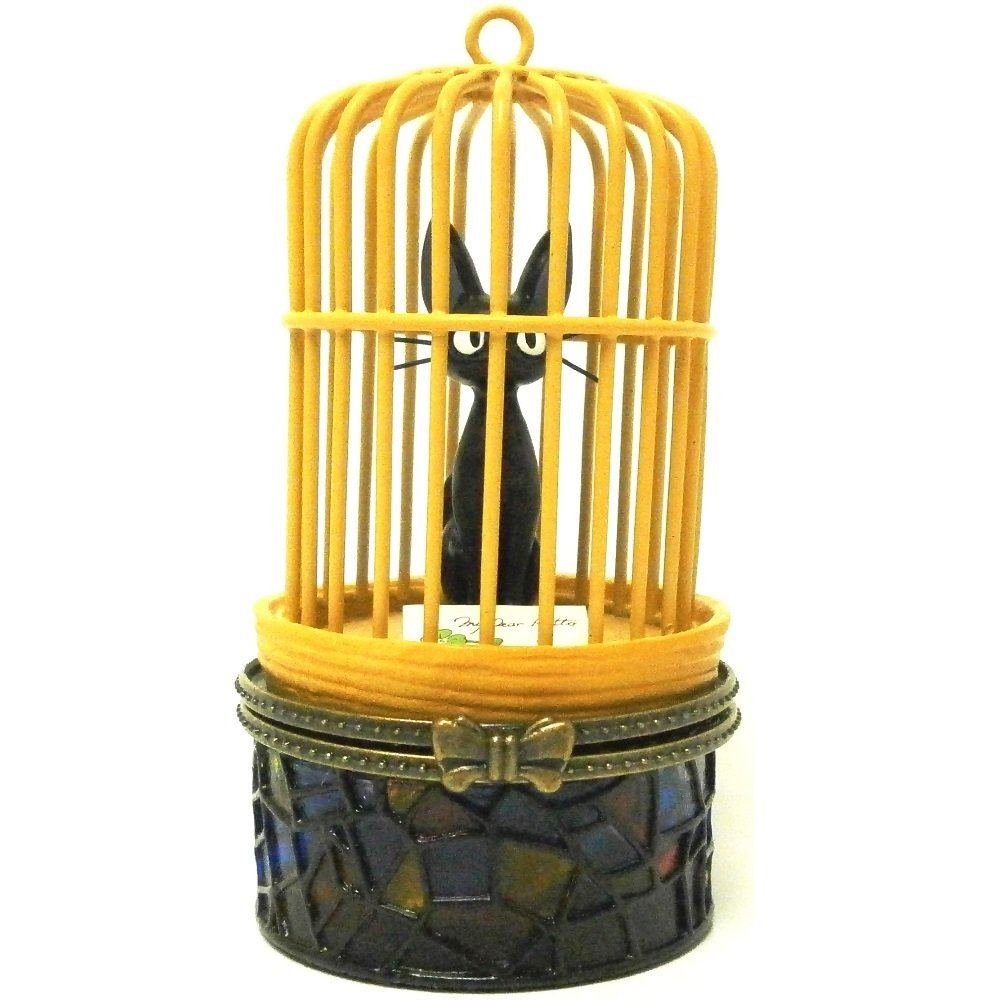 Figure Stained Glass Case - Jiji in Cage -  Kiki's Delivery Service - no production (new)