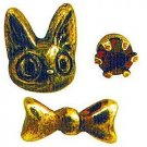 3 Pierced Earrings - Alloy- Jiji & Ribbon- antique gold- Kiki's Delivery Service -no production(new)