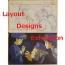 1 left - 2 Postcards - Layout Designs Exhibition - Laputa - Ghibli - no production (new)