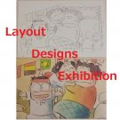 1 left - 2 Postcards - Layout Designs Exhibition - Tonari no Yamada kun - no production (new)