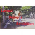 1 left - Postcard - Layout Designs Exhibition - Umi ga Kikoeru - Ghibli - no production (new)